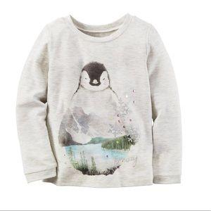 Carter's Toddler Girl penguin tee